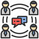 chat, communication, discuss, network, team icon