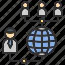 connection, internet, online, user, worldwide icon