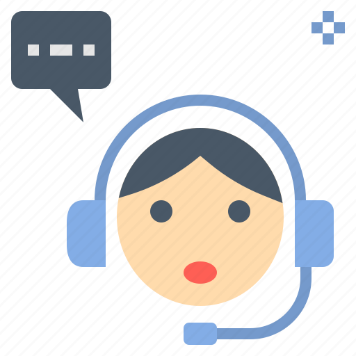 Assistant, customer, headset, operator, service icon - Download on Iconfinder