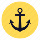 anchor, marine, ship icon