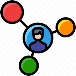 business, communication, connect, share icon