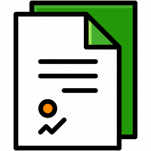 business, contract, files, project icon