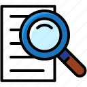 business, file, research, search, seek icon