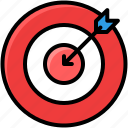 business, develop, goal, target icon