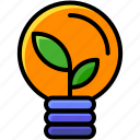 business, creative, green, idea icon