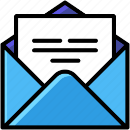 business, contact, mail, open icon