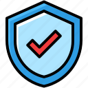 business, guaranteed, protect, shield icon