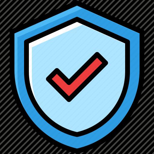 business, guaranteed, protect, shield icon