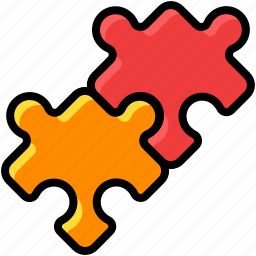business, connect, faq, idea, puzzle, team work icon