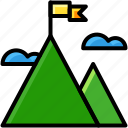 business, goal, mountain, target icon