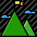 business, goal, mountain, target