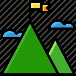 business, goal, mountain, target icon