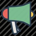 annoucement, mrketing, pramotion, presentation, speaker, teaching, training icon