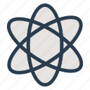 atom, chemistry, molecule, nuclear, physics, science, test icon