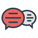 bubble, business, chat, communication, conversation, message, talk icon