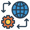 business, configuration, earth, global, internet, preferences, setting icon