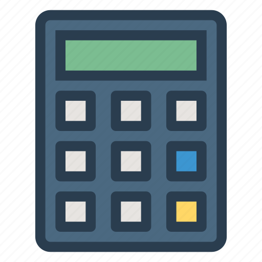 business, calculate, calculator, education, finance, machine, math icon