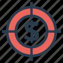 cash, currency, dollar, focus, money, shoot, target