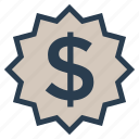 badge, budget, cash, discount, dollar, money, percentage icon