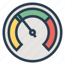 bandwidth, dashboard, fast, measurement, meter, speed, voltmeter icon