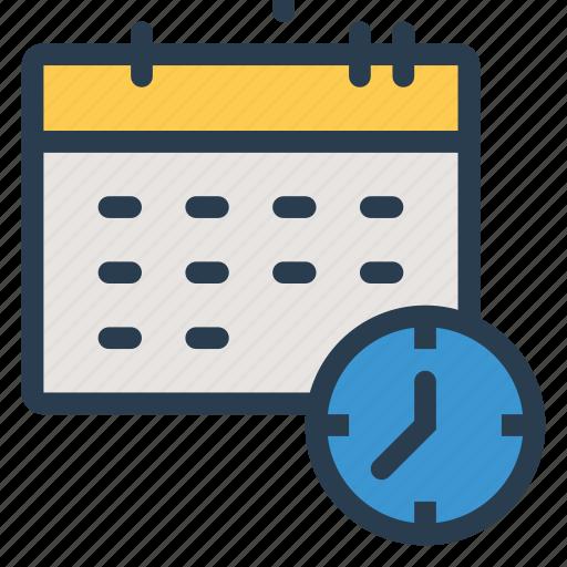 calendar, clock, deadline, meeting, optimization, report, schedule icon
