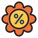 coupon, discount, finance, money, percentage, shopping, tag icon