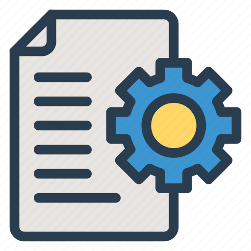 document, file, office, option, paper, search, setting icon