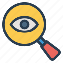 eye, glasses, security, spy, view, visibility, visible icon