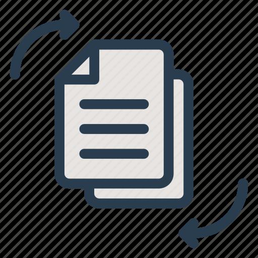 change cv exchange file move resume transfer icon