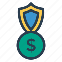 budget, coins, finance, money, payment, protection, secure icon