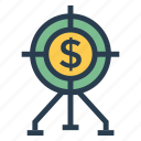 budget, business, finance, money, payment, profit, target icon