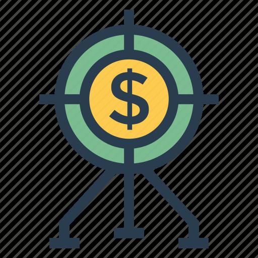 budget, business, finance, money, payment, profit, target icon