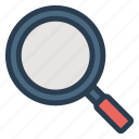 find, glass, magnifying, search, tools, view, zoom icon