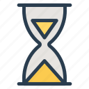 business, busy, glass, hour, hourglass, loading, timer icon
