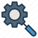 business, gear, magnifier, optimisation, search, seo, setting icon