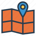 gps, location, map, marker, pin, pointer, structure icon
