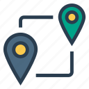gps, map, marker, pin, pointer, service, tracking icon