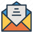 email, envelop, inbox, letter, mail, message, open icon