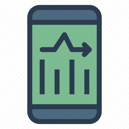 analysis, cell, device, mobile, phone, smartphone, statics icon