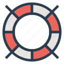 guardar, lifeboat, lifewheel, rescue, safe, sea, travel icon