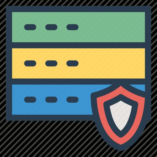 database, hosting, locked, secure, security, server, storage icon