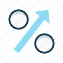 economy, growth, increase, percentage, revenue, statistics icon
