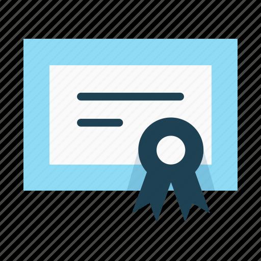 achievement, certificate, degree, diploma, guarantee, licence, patent icon