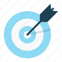 arrow, focus, goal, mission, objective, target icon