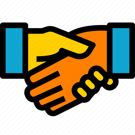 business, company, congratulation, cooperate, deal, hand, shakehand icon