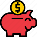 banking, business, financial, fund, money, pig, saving icon