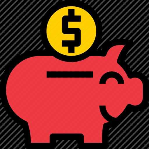 banking, business, financial, fund, money, pig, saving icon