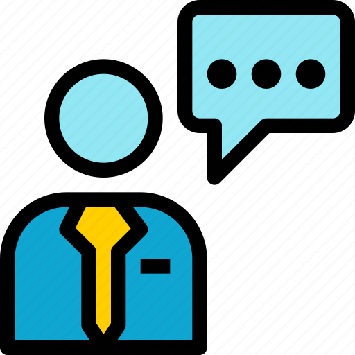 business, chat, communication, company, contact, person, talk icon