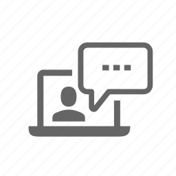 broadcasting, business, communication, computer, laptop, media, speech icon