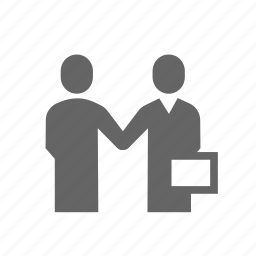 business, businessman, discussion, handshake, meeting, organized, person icon